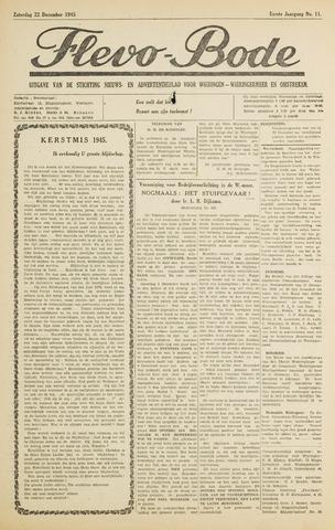 Flevo-bode: nieuwsblad voor Wieringen-Wieringermeer 1945-12-22