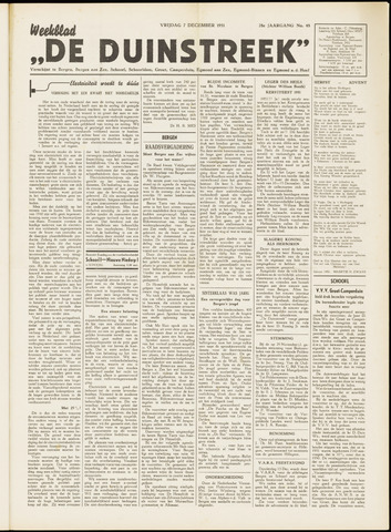 De Duinstreek 1951-12-07
