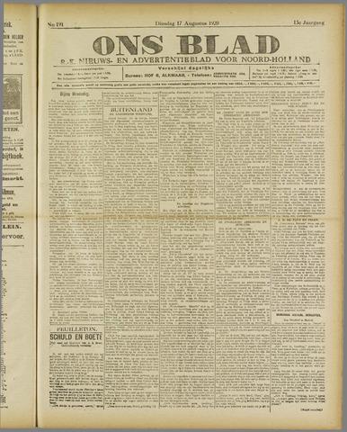 Ons Blad : katholiek nieuwsblad voor N-H 1920-08-17