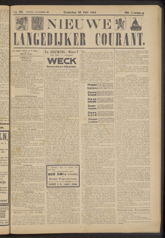 Nieuwe Langedijker Courant 1924-07-26