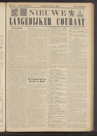 Nieuwe Langedijker Courant 1926-05-25