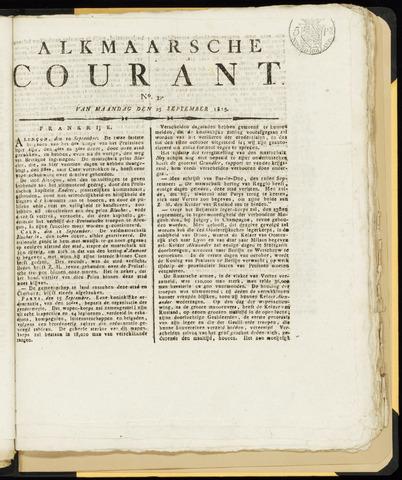 Alkmaarsche Courant 1815-09-25