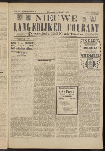 Nieuwe Langedijker Courant 1927-04-02