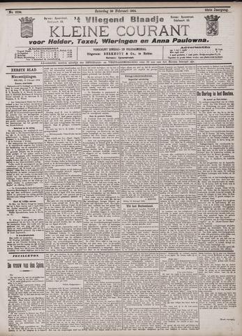 Vliegend blaadje : nieuws- en advertentiebode voor Den Helder 1904-02-20