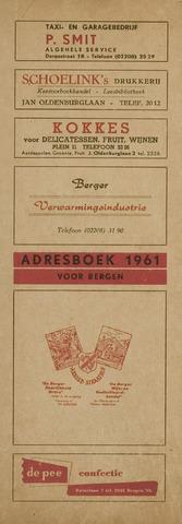 Adresboek van Bergen 1961-01-01