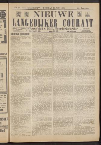 Nieuwe Langedijker Courant 1931-06-16