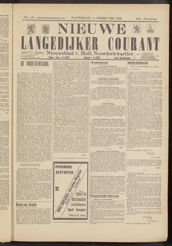 Nieuwe Langedijker Courant 1931-02-14