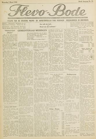 Flevo-bode: nieuwsblad voor Wieringen-Wieringermeer 1948-03-03