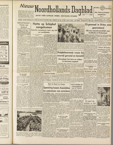 Nieuw Noordhollandsch Dagblad : voor Alkmaar en omgeving 1949-08-12