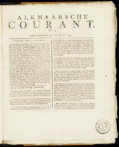 Alkmaarsche Courant 1814-03-28