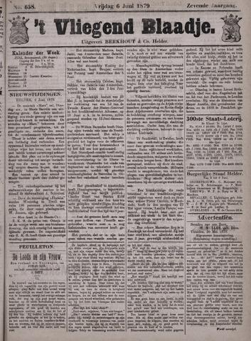 Vliegend blaadje : nieuws- en advertentiebode voor Den Helder 1879-06-06