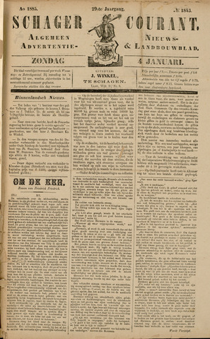 Schager Courant 1885