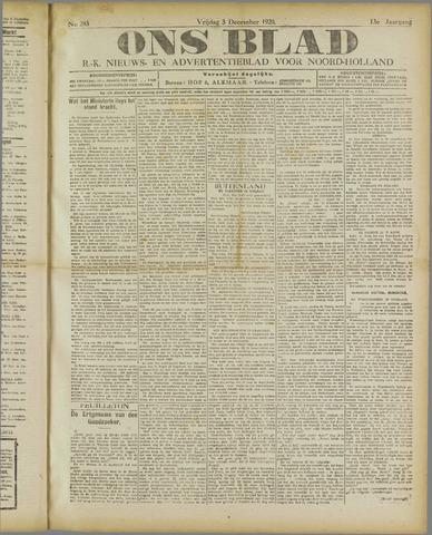 Ons Blad : katholiek nieuwsblad voor N-H 1920-12-03