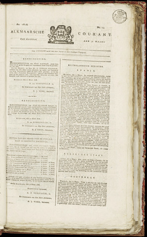 Alkmaarsche Courant 1818-03-30