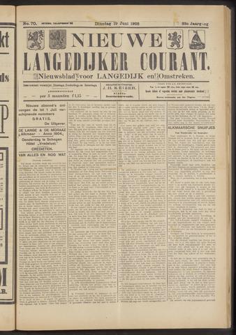 Nieuwe Langedijker Courant 1923-06-19