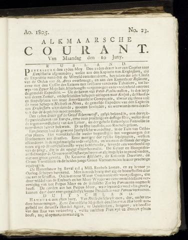 Alkmaarsche Courant 1805-06-10