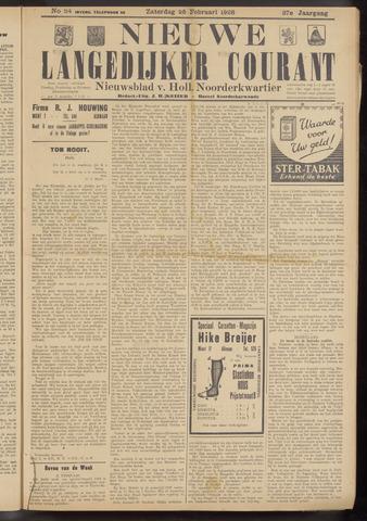 Nieuwe Langedijker Courant 1928-02-25