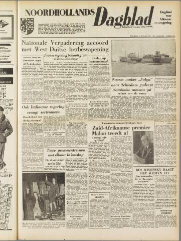 Noordhollands Dagblad : dagblad voor Alkmaar en omgeving 1954-10-13