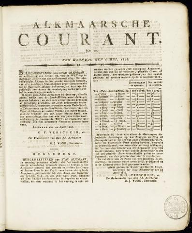 Alkmaarsche Courant 1816-05-06
