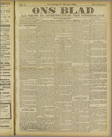 Ons Blad : katholiek nieuwsblad voor N-H 1919-01-15