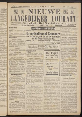Nieuwe Langedijker Courant 1931-07-04