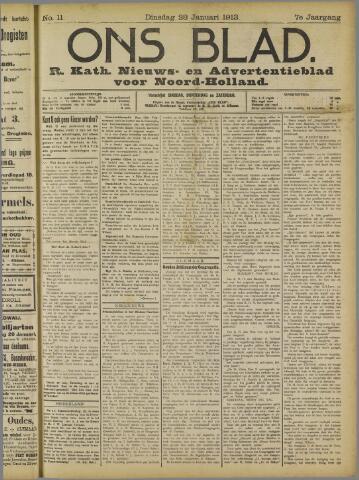 Ons Blad : katholiek nieuwsblad voor N-H 1913-01-28