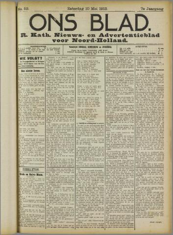 Ons Blad : katholiek nieuwsblad voor N-H 1913-05-10