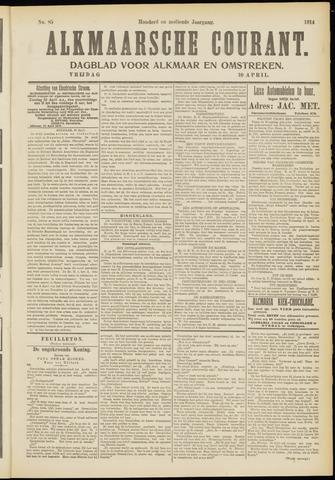 Alkmaarsche Courant 1914-04-10