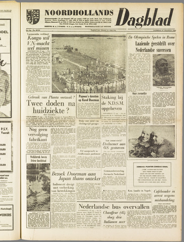 Noordhollands Dagblad : dagblad voor Alkmaar en omgeving 1960-08-27