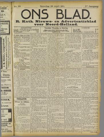 Ons Blad : katholiek nieuwsblad voor N-H 1911-04-22
