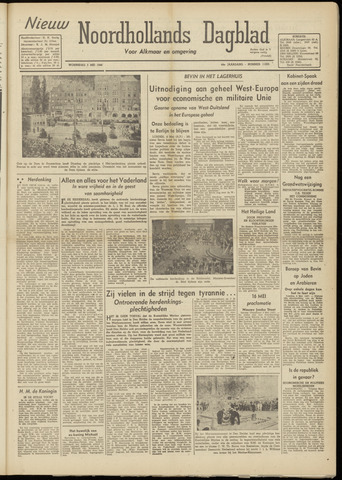 Nieuw Noordhollandsch Dagblad : voor Alkmaar en omgeving 1948-05-05