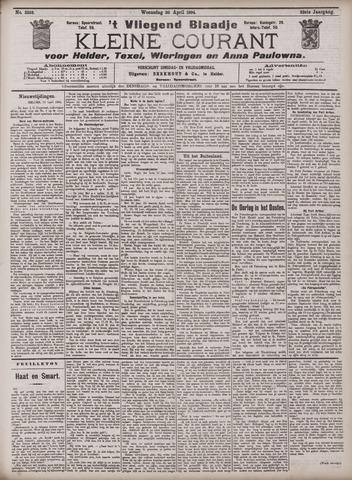 Vliegend blaadje : nieuws- en advertentiebode voor Den Helder 1904-04-20