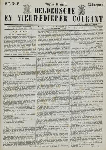 Heldersche en Nieuwedieper Courant 1870-04-15