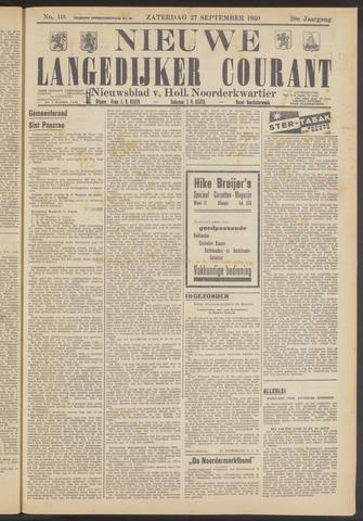Nieuwe Langedijker Courant 1930-09-27