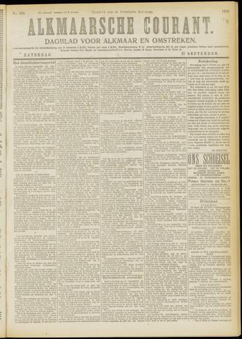 Alkmaarsche Courant 1919-09-27