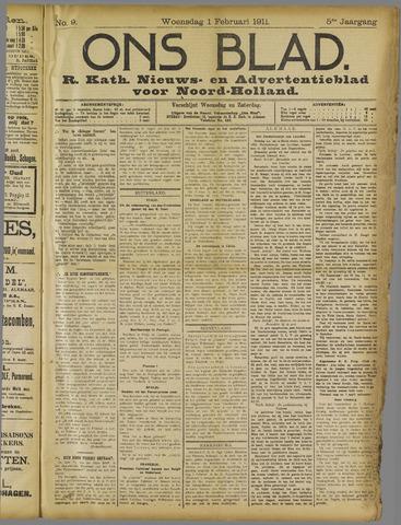 Ons Blad : katholiek nieuwsblad voor N-H 1911-02-01