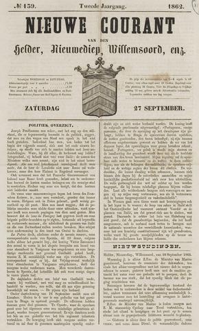 Nieuwe Courant van Den Helder 1862-09-27