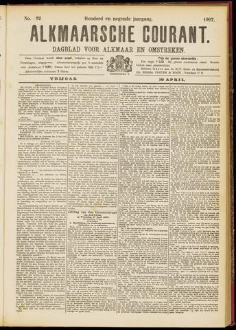 Alkmaarsche Courant 1907-04-19