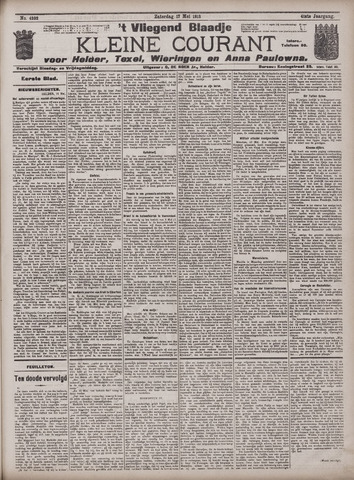 Vliegend blaadje : nieuws- en advertentiebode voor Den Helder 1913-05-17