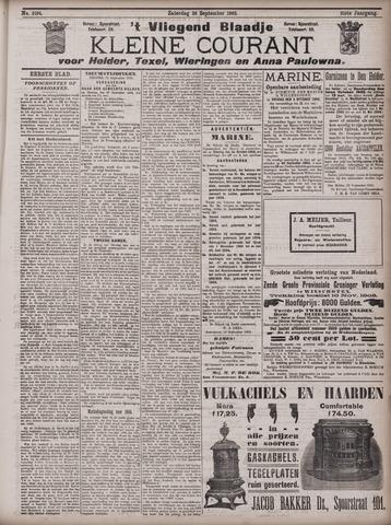 Vliegend blaadje : nieuws- en advertentiebode voor Den Helder 1903-09-26