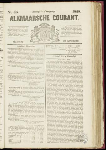 Alkmaarsche Courant 1858-11-29