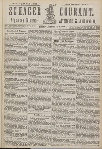 Schager Courant 1920-10-27