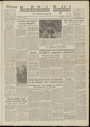 Nieuw Noordhollandsch Dagblad : voor Alkmaar en omgeving 1948-04-26