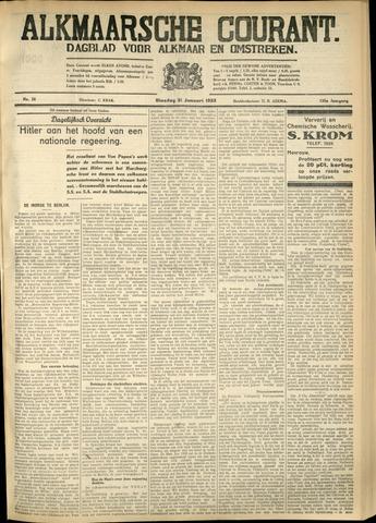 Alkmaarsche Courant 1933-01-31