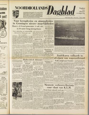 Noordhollands Dagblad : dagblad voor Alkmaar en omgeving 1953-06-12