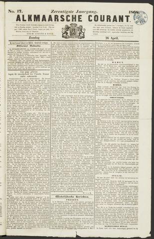Alkmaarsche Courant 1868-04-26