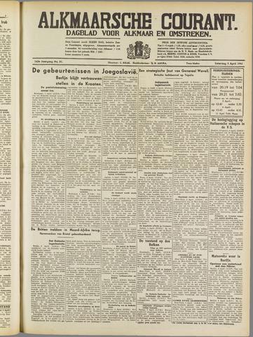 Alkmaarsche Courant 1941-04-05