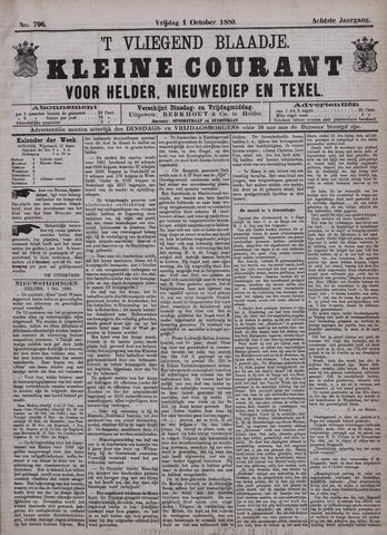 Vliegend blaadje : nieuws- en advertentiebode voor Den Helder 1880-10-01