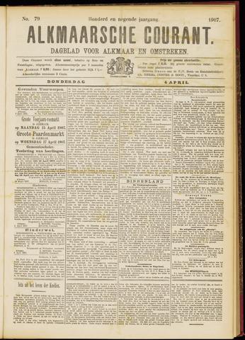 Alkmaarsche Courant 1907-04-04