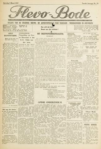 Flevo-bode: nieuwsblad voor Wieringen-Wieringermeer 1947-03-08